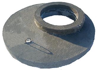 Pierścień wyrównujący + nakrywa żelbetowa
